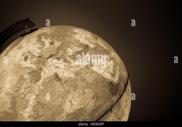 Globe with politics map on it - Stock Image