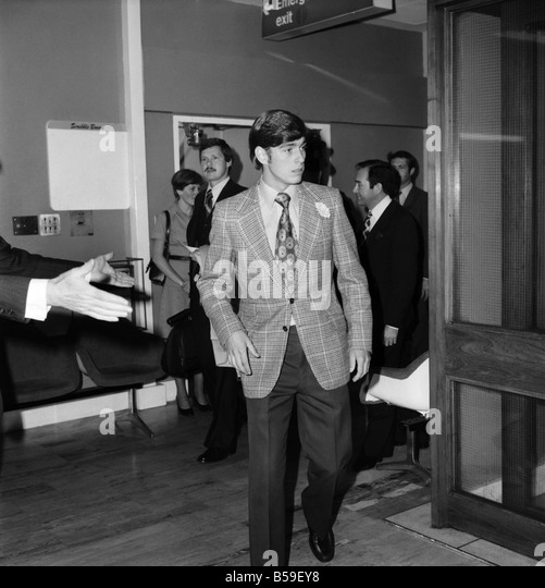 Prince Andrew leaving Heathrow Airport for Canada today. June  1977 R77-3358A-001 - Stock Image