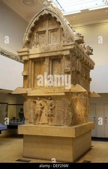 The tomb of Payava, a Lykian aristocrat, Greece & Lycia, The British Museum, London. England. UK. - Stock Image