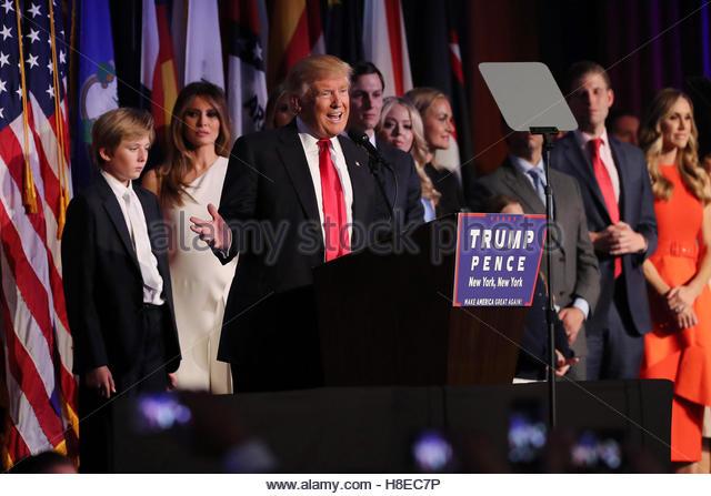 Donald Trump wins the 2016 Presidential election in Manhattan, New York - Stock-Bilder