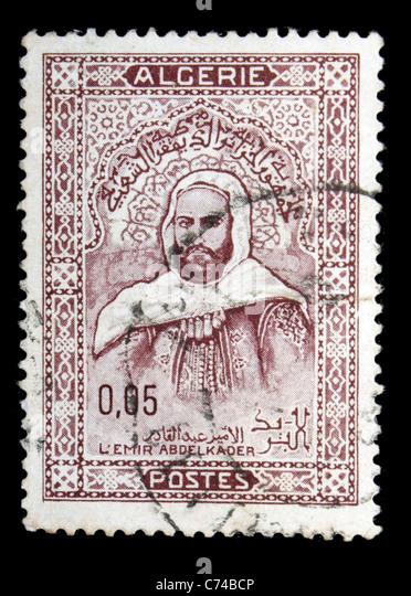 L'emir Abdelkader Algeria postage stamp - Stock Image