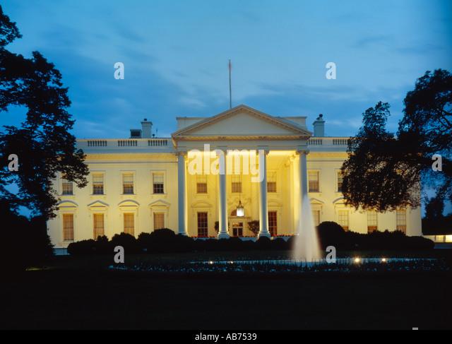 The White House in Washington D C USA - Stock Image