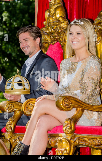 The King and Queen of the Moomba Festival feature a parade during the March Labour Day long weekend only in Melbourne - Stock Image