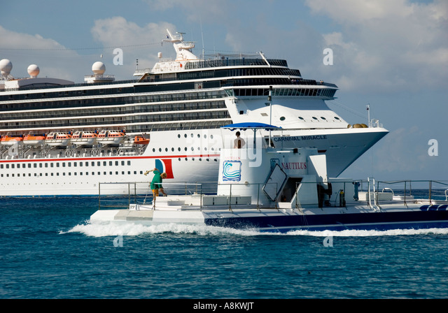 Grand Cayman George Town cayman cruise ship - Stock Image