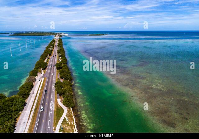 Florida Florida Keys Upper Islamorada Indian Key Lignumvitae Key Aquatic Preserve Florida Bay Atlantic Ocean Route - Stock Image