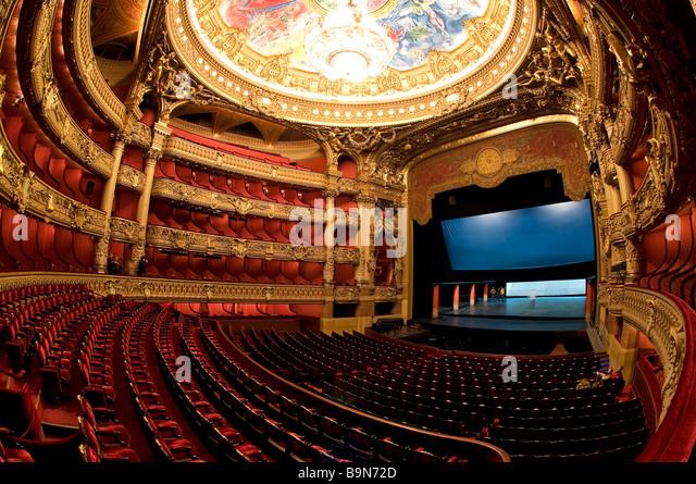 France, Paris, Garnier Opera house, the auditorium - Stock Image