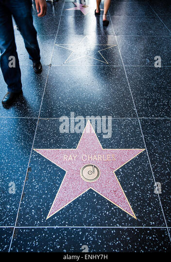 U.S.A., California, Los Angeles, Hollywood, the Walk of Fame - Stock Image