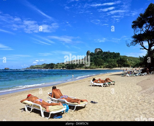 8401. Bahia Maimon Beach, Dominican Republic, Caribbean, West Indies - Stock-Bilder