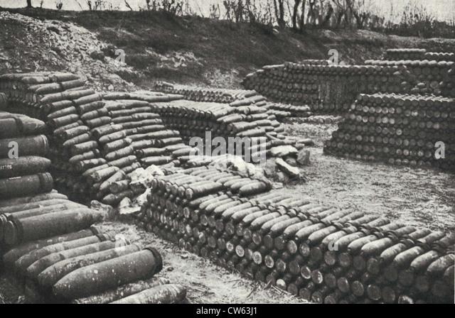 Amunition supplies for the Battle of Verdun - Stock Image