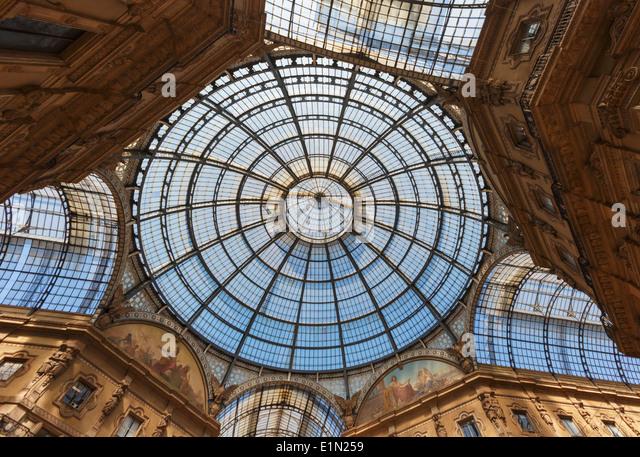 Milan, Milan Province, Lombardy, Italy. Galleria Vittorio Emanuele II shopping arcade. - Stock Image