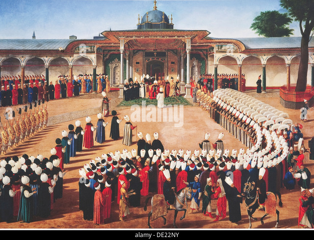 fine arts Byzantine Empire Topkapi Palace painting Istanbul Orient oriental Middle East Middle-East Asia Byzantine - Stock Image