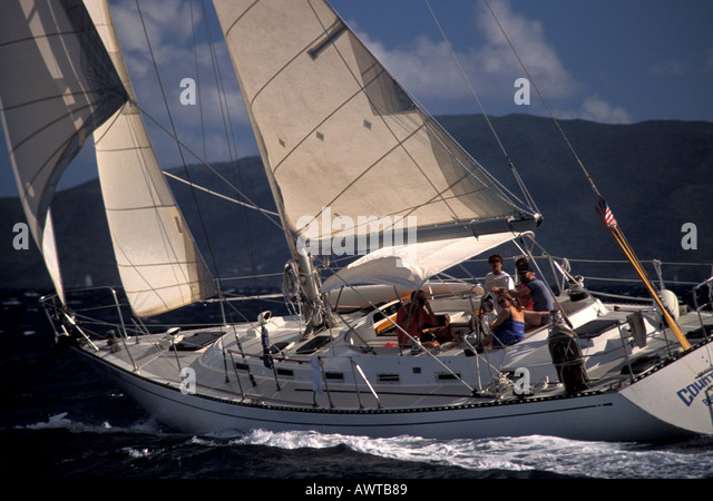 Sailing Caribbean British Virgin Islands Drake - Stock Image