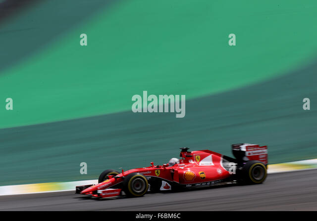 Brazil. 15th November, 2015. Motorsports: FIA Formula One World Championship 2015, Grand Prix of Brazil, #5 Sebastian - Stock-Bilder
