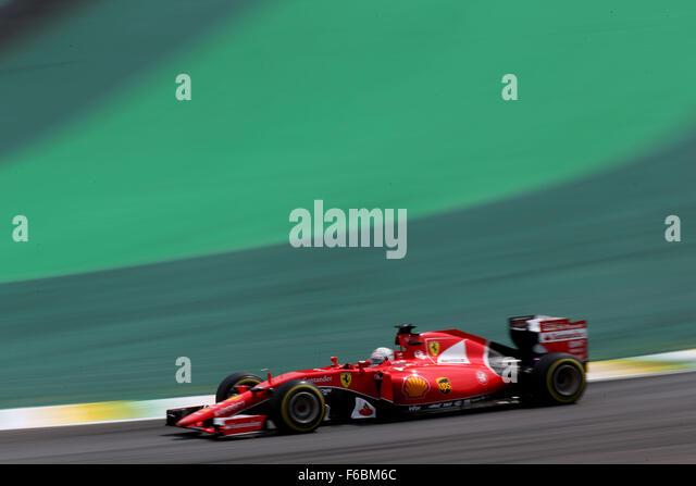 Brazil. 15th November, 2015. Motorsports: FIA Formula One World Championship 2015, Grand Prix of Brazil, #5 Sebastian - Stock-Bilder