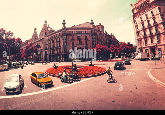 Spain, Barcelona, Street scene - Stock Image