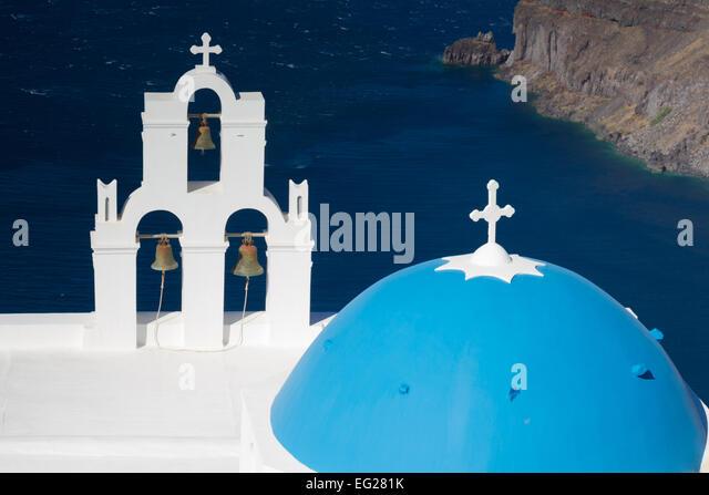 Church of Firostefani, Santorini, Cyclades, Greece - Stock Image