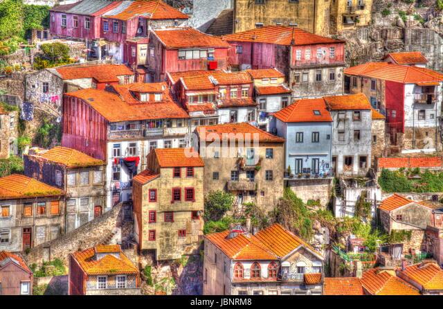 Old Houses near River Douro , Porto, Portugal, Europe - Stock-Bilder