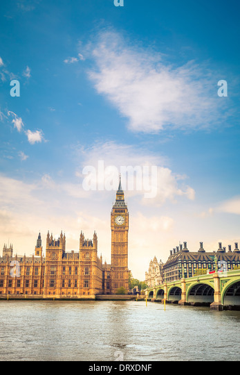 CLouds over Big Ben - Stock-Bilder
