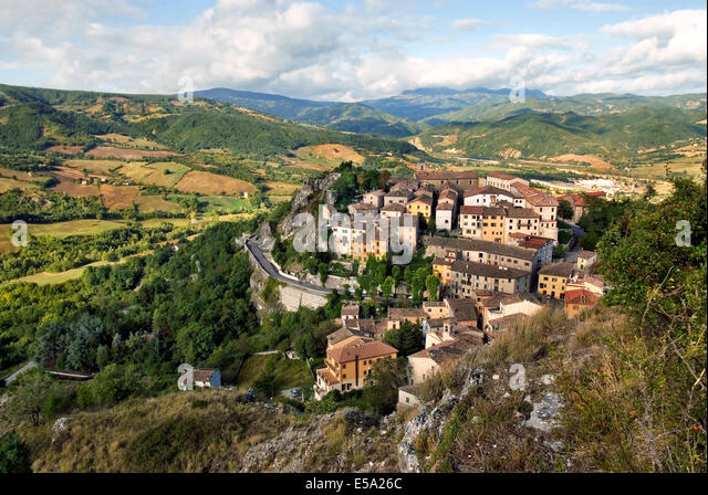 Pennabilli is a commune (municipality) in the Province of Rimini in the Italian region Emilia-Romagna. - Stock-Bilder