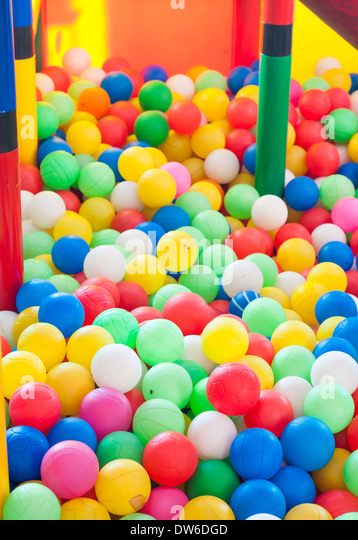 A ball pen at a kindergarten or daycare. - Stock Image