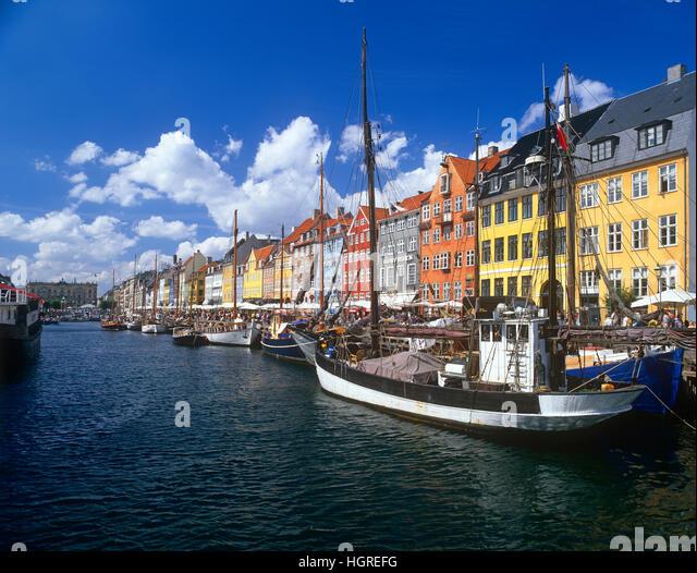 Nyhavn, Copenhagen, Denmark - Stock Image
