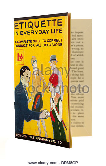 Small booklet from the 1920s on Etiquette in everyday life a correct conduct guide.EDITORIAL ONLY - Stock-Bilder