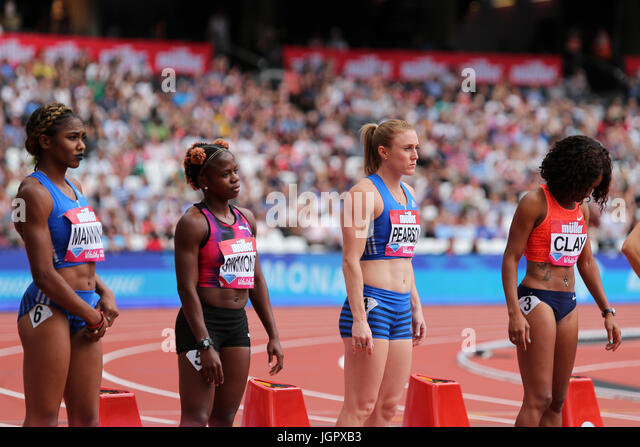 London, UK. 9th July, 2017. IAAF Diamond League, Anniversary Games, Queen Elizabeth Olympic Park, Stratford, London, - Stock Image