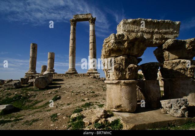 Temple of Hercules, Amman, Jordan - Stock Image