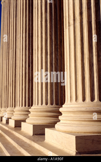 U.S. Supreme Court building columns, Washington D.C. - Stock Image