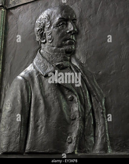 1860 Sir James Graham by John Tweed, Carlisle Cathedral, Cumbria, England, UK - Stock Image