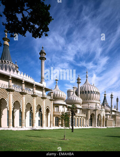 Royal Pavilion, Brighton, East Sussex, England, UK - Stock Image