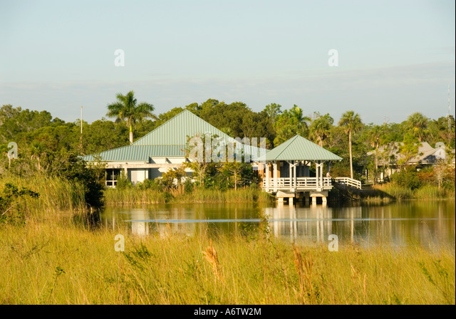 Ernest F Coe visitor center Everglades National Park Florida - Stock Image