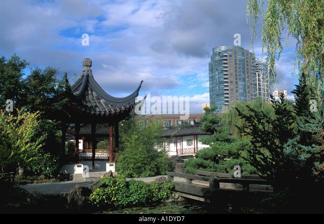 Vancouver Canada Sun Yat Sen Gardens - Stock Image