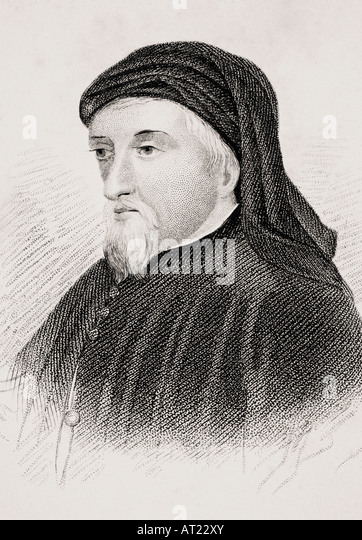 Geoffrey Chaucer c 1342 3 1400 English writer - Stock Image