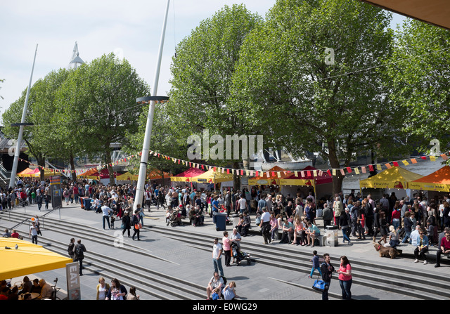 South Bank Food Festival London - Stock Image