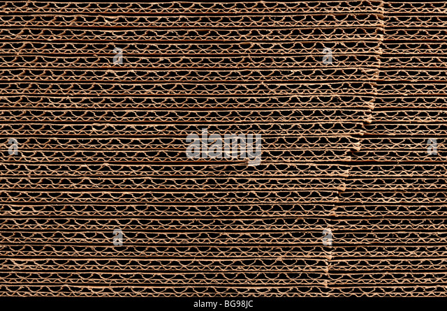 Stack of corrugated cardboard - Stock Image