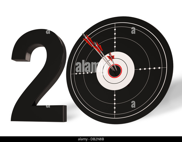 20 Shows 20th Anniversary Or Twentieth Birthdays - Stock Image