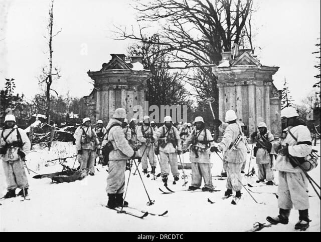 Finnish soldiers WWII - Stock Image