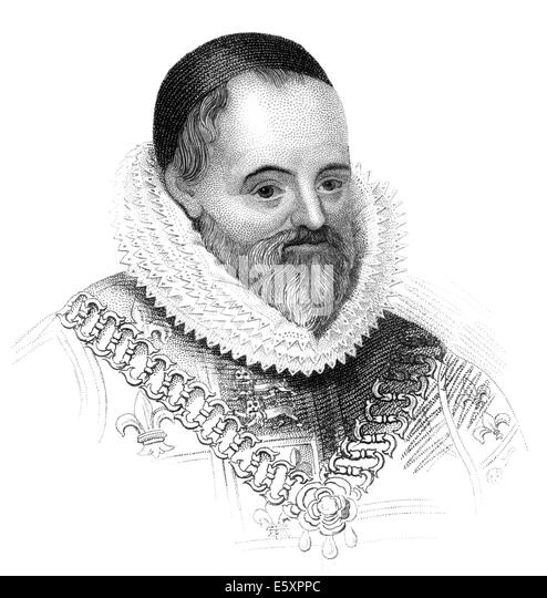 William Camden, 1551-1623, an English antiquarian, historian, topographer, and officer of arms, - Stock-Bilder