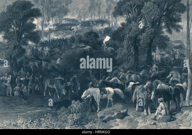 Battle of Kings Mountain, 1780 - Stock Image