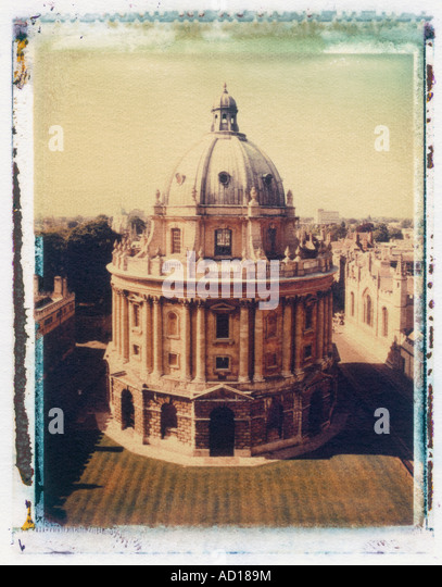 Radcliffe Camera from St Mary's Church, Oxford, England - Stock Image