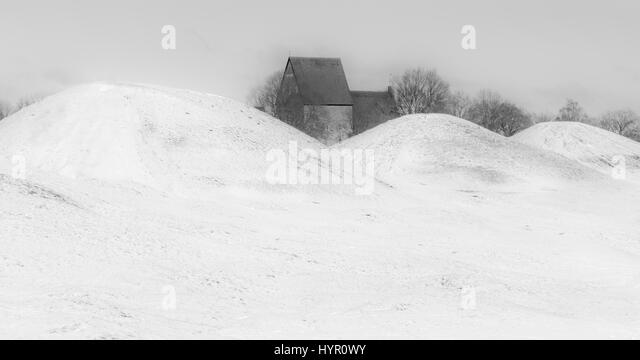 Old Uppsala church - Stock Image