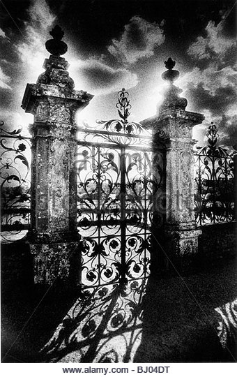 Gates, Carrouges Chateau, Normandy, France - Stock Image