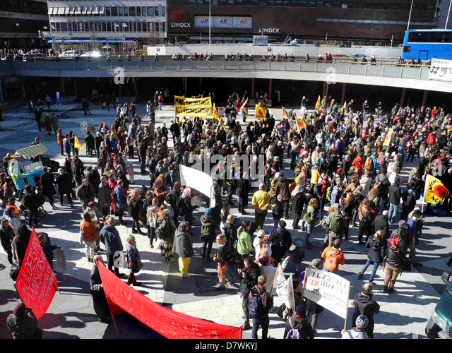 Demonstration against mining 20 April 2013 in Stockholm, Sweden. - Stock-Bilder