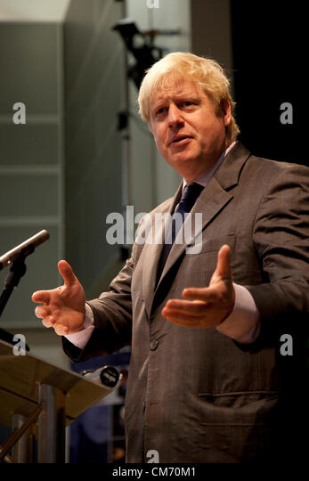 The Mayor of London, Boris Johnson speaks at Pimlico Academy announcing plans to make London a world leader in education. - Stock Image