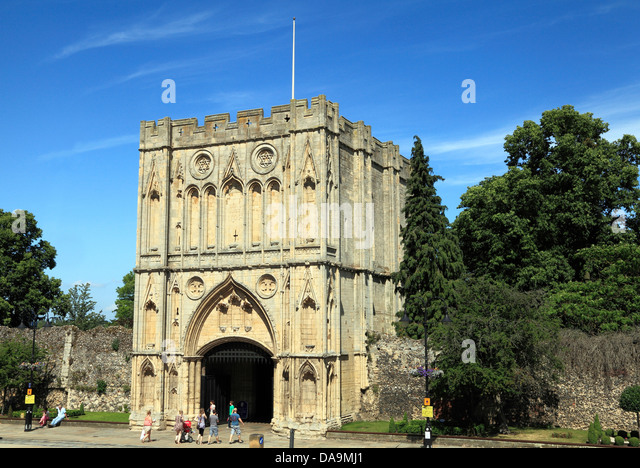 Bury St. Edmunds, Suffolk, medieval Abbey Gate, Suffolk, England, UK - Stock Image