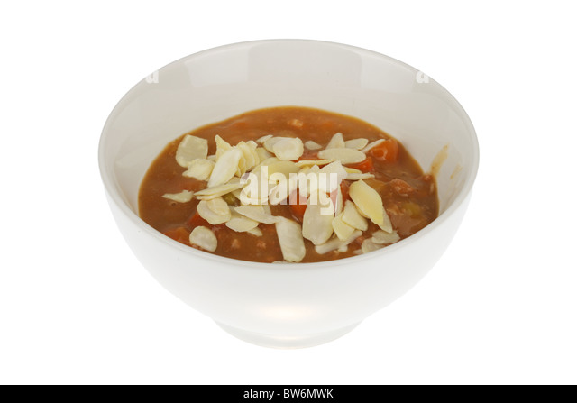 Fish Stew with Sliced Almonds - Stock Image