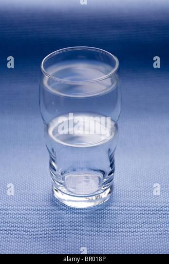 glass half full - Stock Image