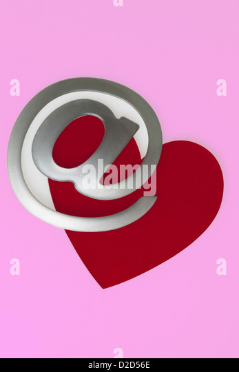 Internet dating conceptual image - Stock Image