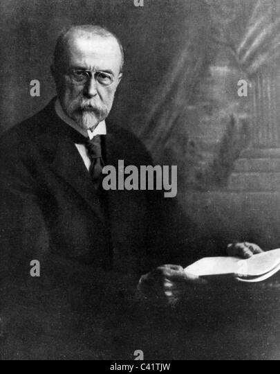 Masaryk, Tomas Garrigue, 7.3.1850 - 14.9.1937, Czech politician, President of Czechoslovakia 1918 - 1935, half length, - Stock-Bilder